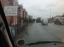 Here we are in Gorton...and it's raining again