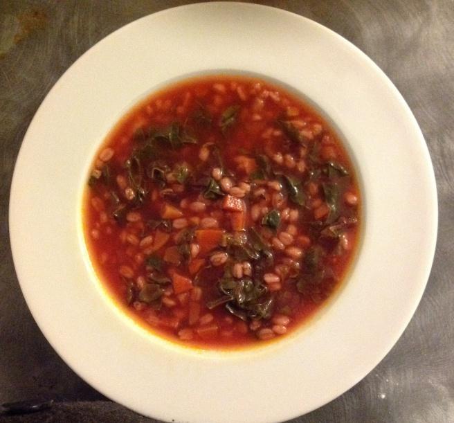 Ruby chard soup
